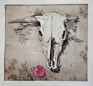 Untitled Skull with Flower