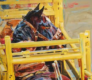 Portrait of a Bucking Horse
